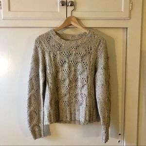 Lucky Brand Knit Crew Neck Sweater Oatmeal